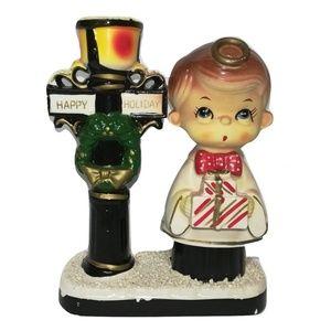 Blume Happy Holiday Candlestick Holder Caroler Boy